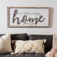 Happy Home Shawdowbox Framed Art Print