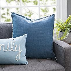 Indigo Dynasty Whipstitch Pillow