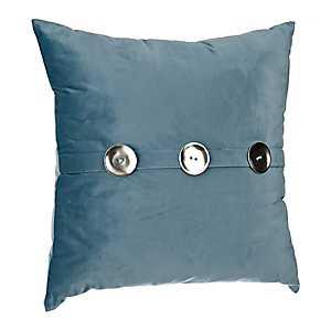 Blue Samuel Velvet Button Pillow