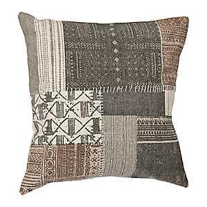 Gray Wellington Patchwork Pillow