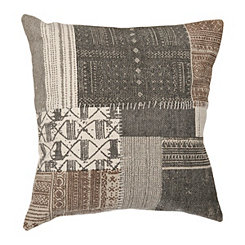 Gray Wellington Patchwork Pillow