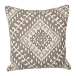 Two-Tone Gray Embroidered Pillow