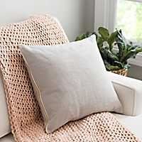 Gray Exposed Zipper Pillow
