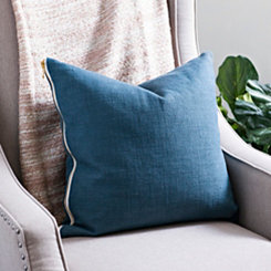 Indigo Exposed Zipper Pillow