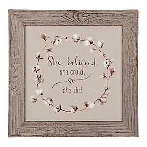She Believed Framed Art Print