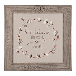 She Believed Framed Art Print