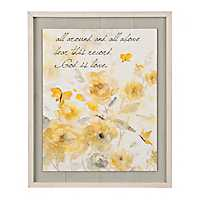 God is Love Framed Shiplap Art Print
