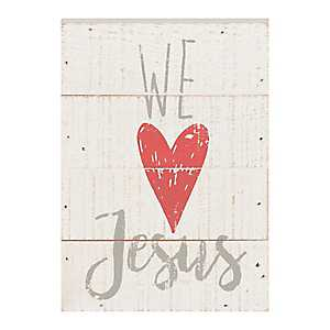 We Love Jesus Word Block
