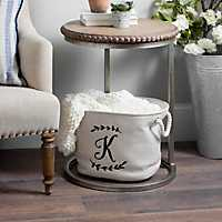 Cream Branch Monogram Storage Bins