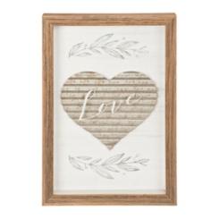 Love Galvanized Heart Shadowbox