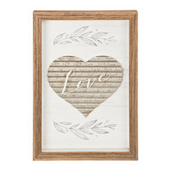 Love Galvanized Heart Shadowbox