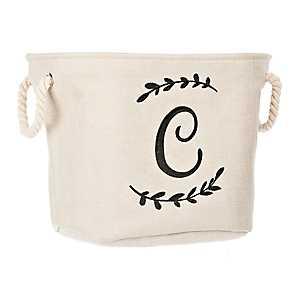 Cream Branch Monogram C Storage Bin