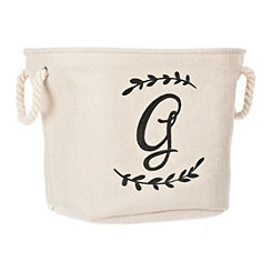 Cream Branch Monogram G Storage Bin