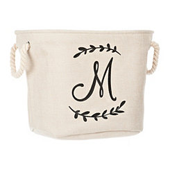 Cream Branch Monogram M Storage Bin