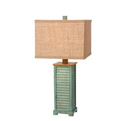 Antique Green Shutter Table Lamp