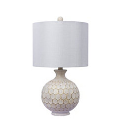 Antique Ivory Honeycomb Table Lamp