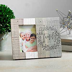 Family Slatted Wood Pallet Picture Frame, 4x6