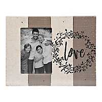 Love Slatted Wood Pallet Picture Frame, 4x6