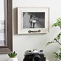 Cream Driftwood Metal Handle Picture Frame, 7x5