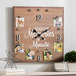 Making Memories By The Minute Wall Clock