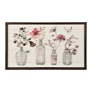 Botanical Bottles Shiplap Framed Art Print