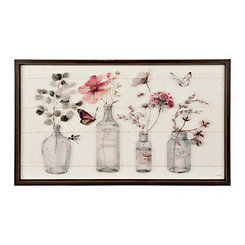 Botanical Bottles Shiplap Framed Art Print