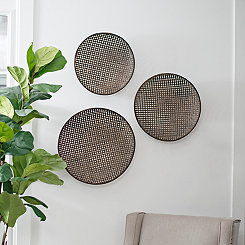 Brown Laura Woven Baskets, Set of 3
