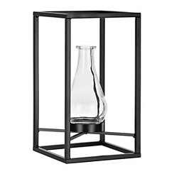 Metal Framed Floating Vase, 7.5 in.