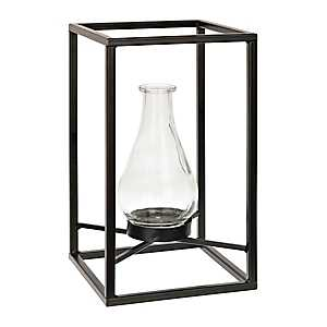 Metal Framed Floating Vase, 12.5 in.