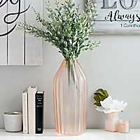 Pink Chevron Glass Vase