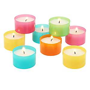 Multicolor Tealight Candles, Set of 96