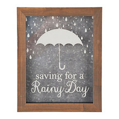 Rainy Day Framed Money Bank