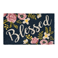Floral Blessed Doormat