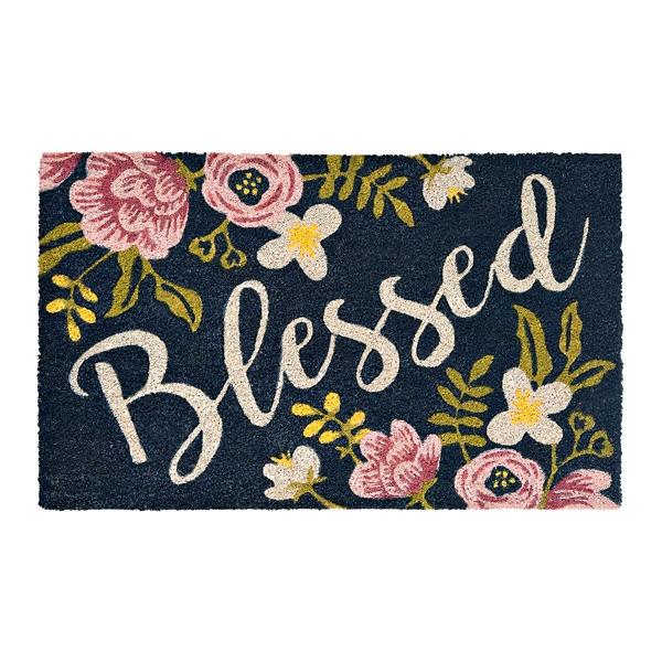 Floral Blessed Doormat