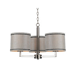 Brushed Steel Margo 3-Light Chandelier