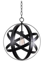 Black Global Pendant Lamp