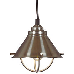 Brushed Steel Harbor LED Pendant Lamp
