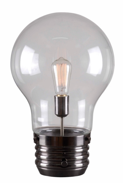 ... Antique Brass Edison Bulb Table Lamp ...