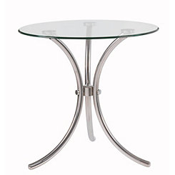 Clear Glass Trio Accent Table