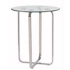 Clear Glass Arpeggio Accent Table