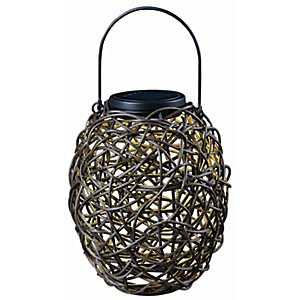 Black Tangles Solar Lantern