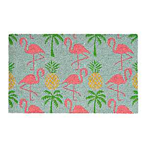 Tropical Flamingo Doormat