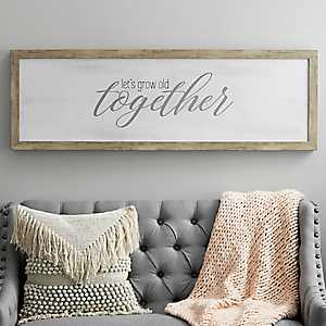 Let's Grow Old Framed Wood Wall Plaque