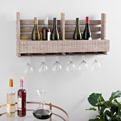 Wooden Wine Crate Wall Shelf
