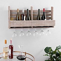 Wooden Wine Crate Wall Shelf