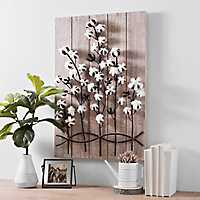 Fields of Cotton Wood and Metal Plaque
