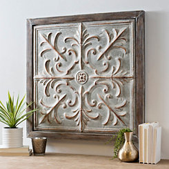 Ventura Galvanized Medallion Framed Wall Plaque