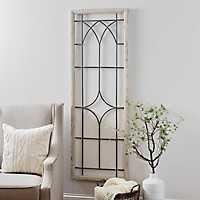 Open Window Wood and Metal Panel Wall Plaque