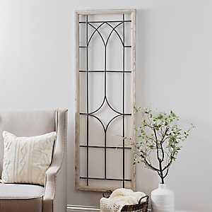 Open Window Wood and Metal Panel Wall Plaque