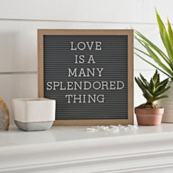 Gray Letter Peg Message Board